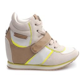 Marrone Sneakers alla moda JT4 Beige
