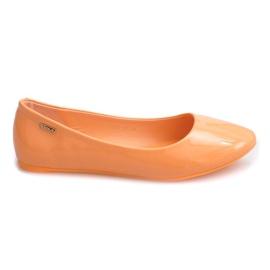 Arancione Ballerine laccate 11037 arancio