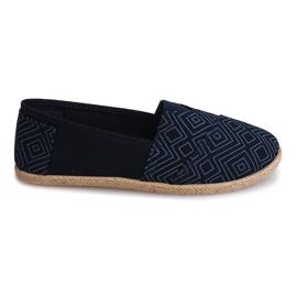 Sneakers Espadrillas Lino B211-3 Blu