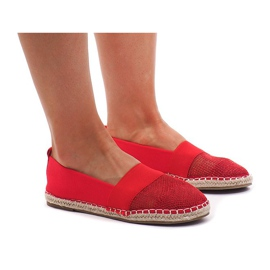 Sneakers Espadrillas, traforato 188-38 Rosso