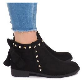 Stivali in pelle scamosciata con cursore LL-168 nero
