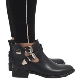 Ideal Shoes Stivaletti blu navy aperti Y8157 marina
