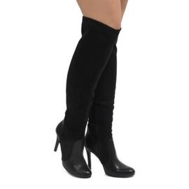 Nero Stivali neri su un perno 8020