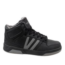 Nero Sneakers alte nere con pelliccia M667-2