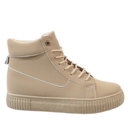 Creepers lace-up beige 892-PA marrone