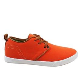 Arancione Sneakers stringate arancio per uomo M-021