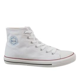 Bianco Sneakers da uomo classiche bianche CQ-1401