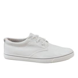 Bianco Scarpe da ginnastica bianche classiche da uomo BK-6005