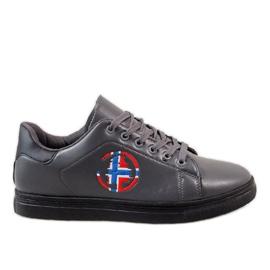 Sneaker uomo grigio D20533