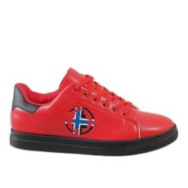 Rosso Sneakers da uomo rosse D20533