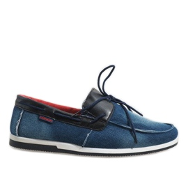 Marina Mocassini eleganti blu scuro scarpe AB108-1