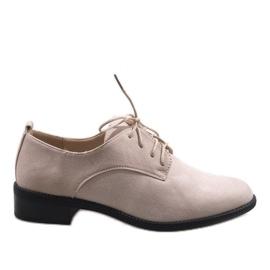 Marrone Scarpe jazz beige con scarpe scamosciate C-7183