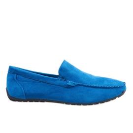 Mocassini eleganti blu scuro scarpe AB07-6