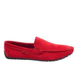 Red eleganti mocassini AB96K-2 rosso