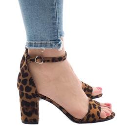 Sandali Leopard a cinque punte 5102