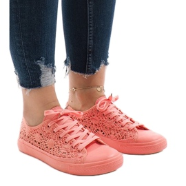 Sneakers rosa con pizzo RL-673