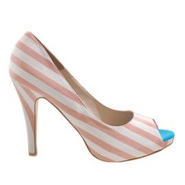 Scarpe con tacco rosa K011