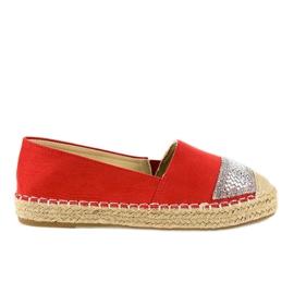 Rosso Espadrillas rosse sneakers su piattaforma 180-6