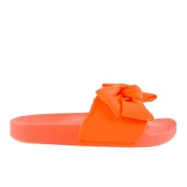 Infradito arancione con fiocco al neon MU-6