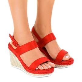 Rosso Red U-6291 sandali con zeppa