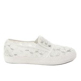 Bianco Sneakers sneakers bianche con pizzo A0397-3