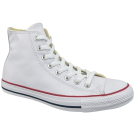 Bianco Converse Chuck Taylor All Star Hi in pelle al 132169C