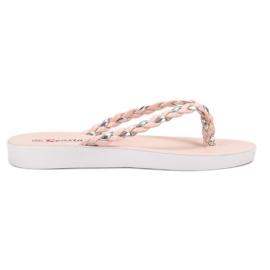 Seastar Flip-flop in tessuto rosa