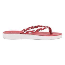 Seastar Flip-flop in tessuto rosso