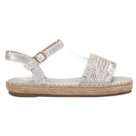 Small Swan grigio Espadrillas sandali argento