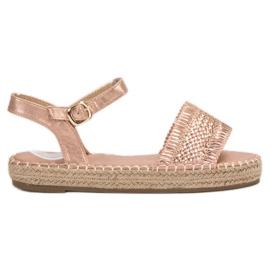 Small Swan rosa Espadrillas Pink Sandals