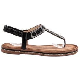 SHELOVET Sandali giapponesi neri nero