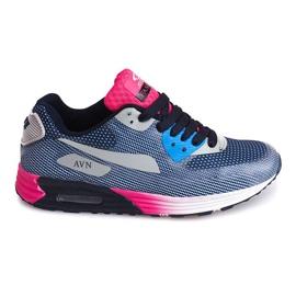 Sneakers sportive B49-6 blu