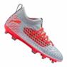 Scarpe da calcio Puma Future 4.3 Netfit Fg / Ag Jr 105693-01 grigio rosso, grigio / argento