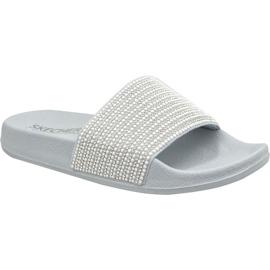 Pantofole Skechers Pop Ups W 34210-GYSL grigio