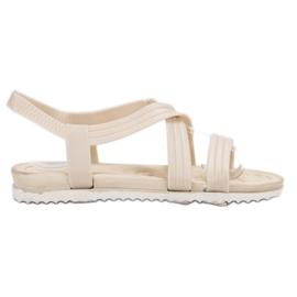 SHELOVET Sandali di gomma da infilare bianco