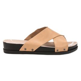 Clowse marrone Pantofole beige