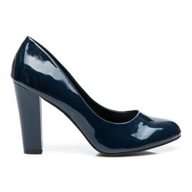 Sweet Shoes blu Pompe laccate su un bar