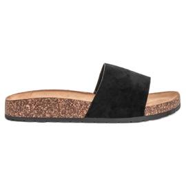 Bello Star nero Pantofole nere classiche