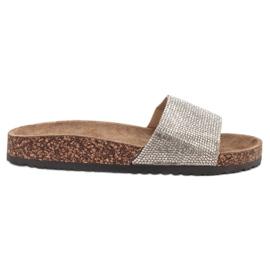 Bona grigio Pantofole con suola in sughero