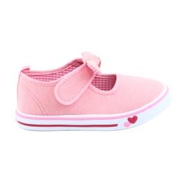 American Club rosa Sneakers da ginnastica con fiocco TEN42