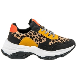 SHELOVET multicolore Sneakers colorate con stampa leopardata