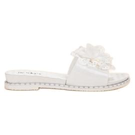 Kayla bianco Pantofole di gomma bianca