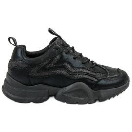SHELOVET nero Sneakers glitterate
