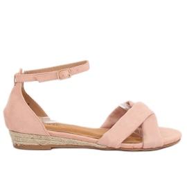 Espadrillas sandali rosa 9R121 rosa