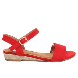 Sandali espadrillas rosso 9R73 rosso
