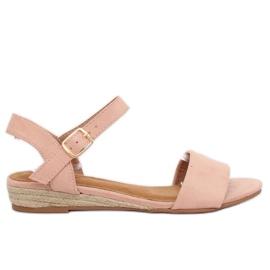 Espadrillas sandali rosa 9R73 rosa