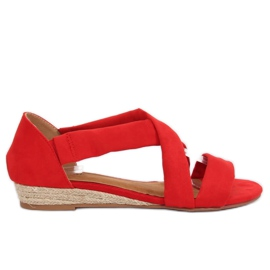 Sandalo espadrillas rosso 9R72 Rosso