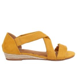 Sandali espadrillas giallo 9R72 Giallo