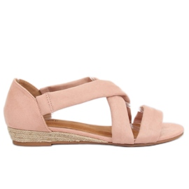 Espadrillas sandali rosa 9R72 rosa