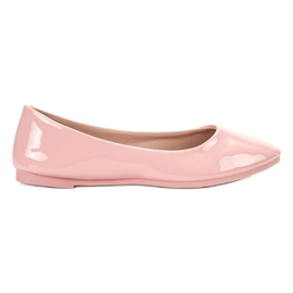 SHELOVET Ballerina laccata rosa